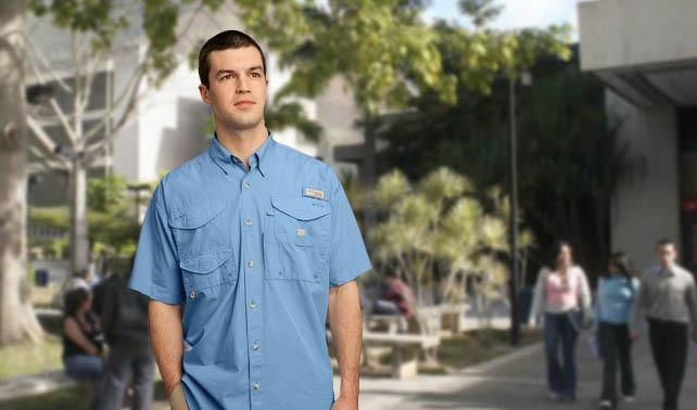"99% de usuarios de camisas Columbia no saben qué es ""pescar""  e4ff650a615"