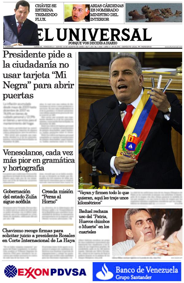 Portada: Si Rosales hubiese ganado las elecciones presidenciales del 2006