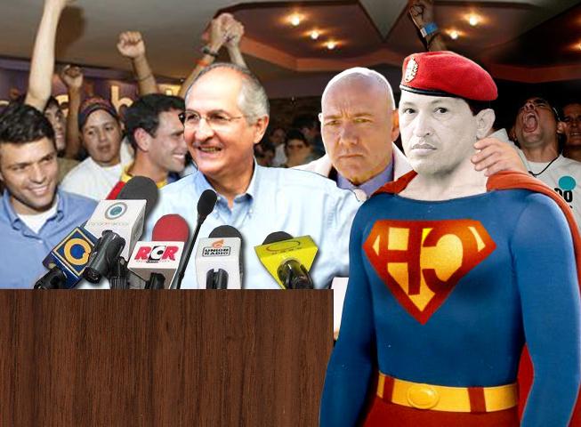 """Lex Luthor presenta a """"Bizarro Chávez"""" como candidato opositor para 2012"""