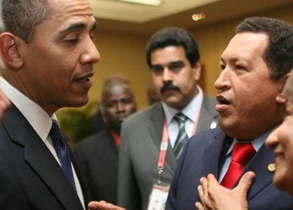 """Chávez experimenta """"Soponcio"""" al conocer a Obama"""