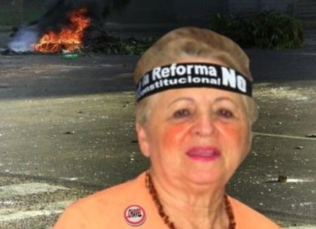 Señora Maria Alejandra López crea más de 10 chavistas en un día