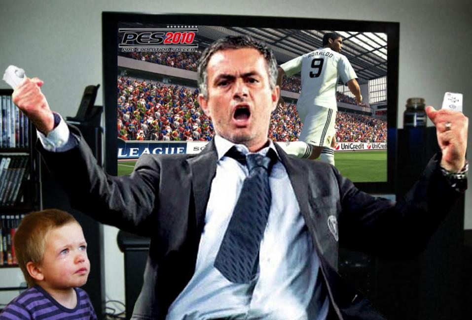 Mourinho humilla a sobrino en partido de Wii