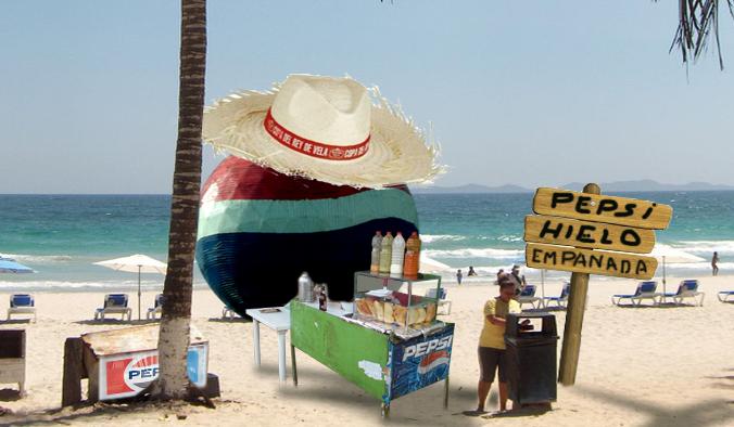 Bola de Pepsi consigue trabajo vendiendo empanadas