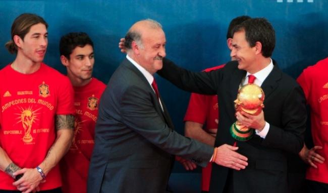 """Zapatero: """"Copa del mundo es el primer logro de mi administración"""""""