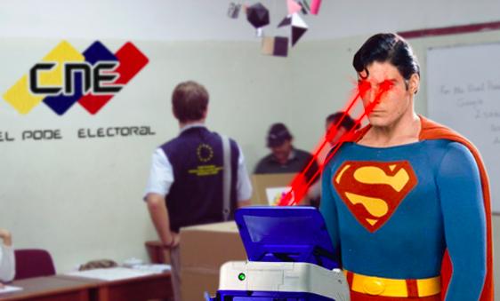 Batman, Superman y Olegario Mojón Mojón ejercen el voto con absoluta normalidad