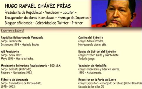 EXCLUSIVA: Curriculum de Hugo Chávez Frías