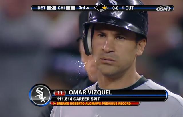 Vizquel impone récord de más escupitajos para un infielder en Grandes Ligas