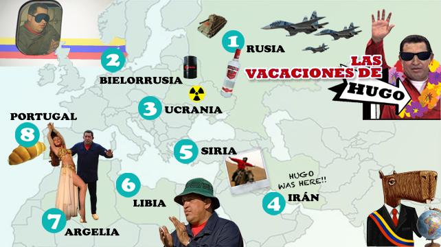 Infografía: Las vacaciones de Chávez