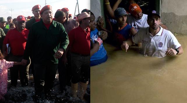 Inameh pronostica aumento de fotos de políticos bajo el agua