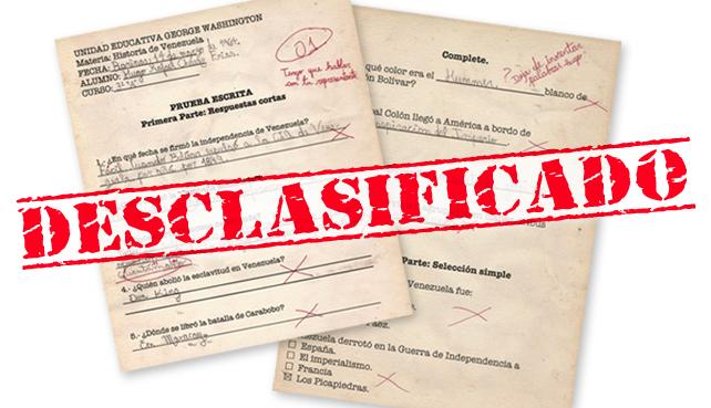 Wikileaks filtra examen de Chávez de 3er Grado