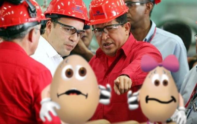 """Chávez radicaliza su discurso: """"Acabaremos con los Ricos Huevos"""""""