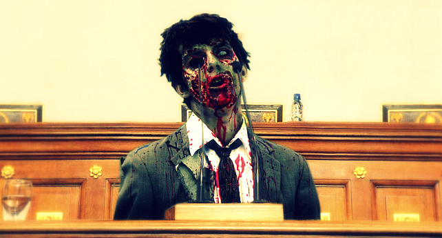 """Diputado Zombie declara que """"ahhhggrrgfjk"""""""