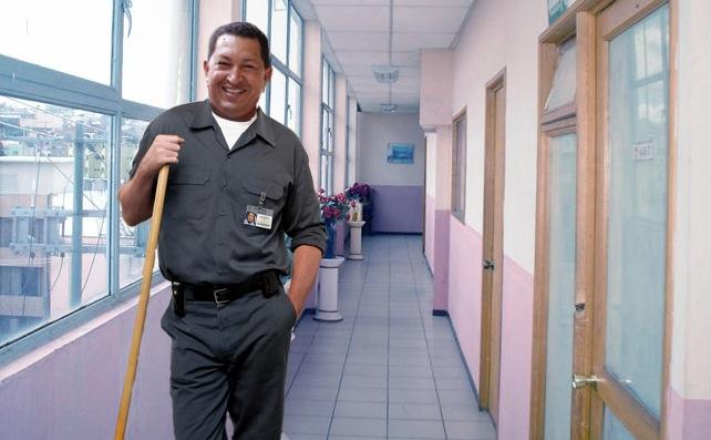 Chávez tremenda persona, en universo paralelo donde no es presidente sino conserje