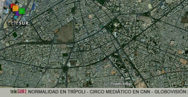 Telesur reporta que desde Google Earth Libia se ve en total normalidad