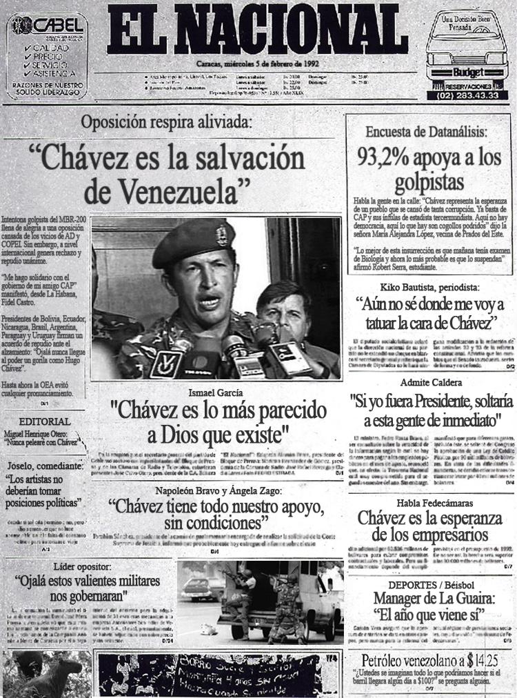 """""""Chávez es la salvación de Venezuela"""" Dice oposición de 1992"""