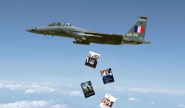 Francia bombardea Libia con toneladas de películas intensas