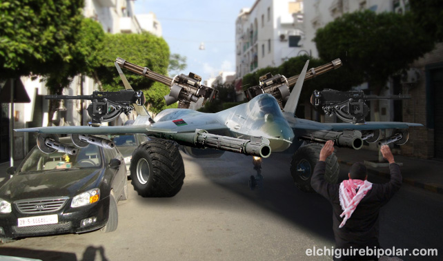 Resolución de la ONU obliga a Sukhois de Gadafi a atacar por tierra