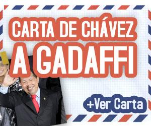 """Chávez envía carta a Gadafi: """"Resiste amigo, el petróleo va subiendo"""""""