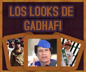 Infografía: Los looks de Gadhafi