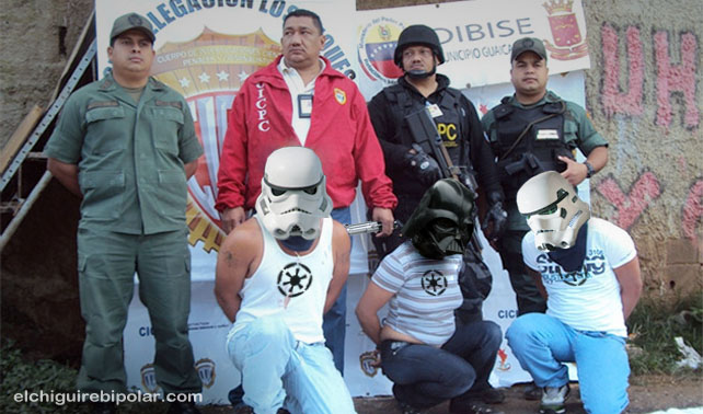 """CICPC detiene a banda """"Los Darthsvaders"""""""
