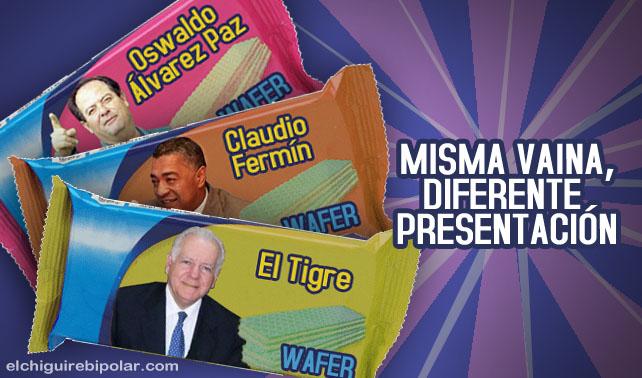 Fermín, El Tigre y Álvarez Paz se postulan en presentación tipo Wafer