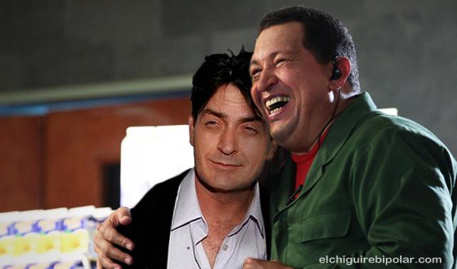 Chávez brinda apoyo a Gadafi y a Charlie Sheen