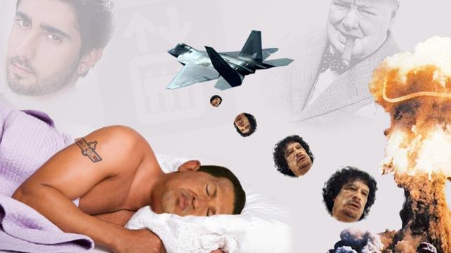 Chávez envía tropas para defender a Gadafi... en un sueño
