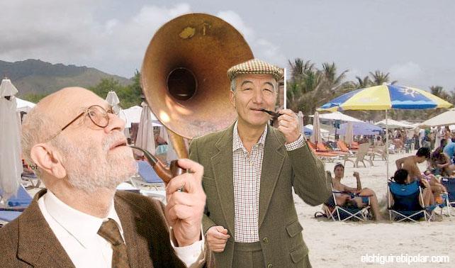 Jóvenes molestos porque vecinos intelectuales tienen a Mozart a todo volumen en la playa