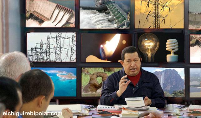Chávez utiliza doce pantallas planas para explicar el ahorro energético