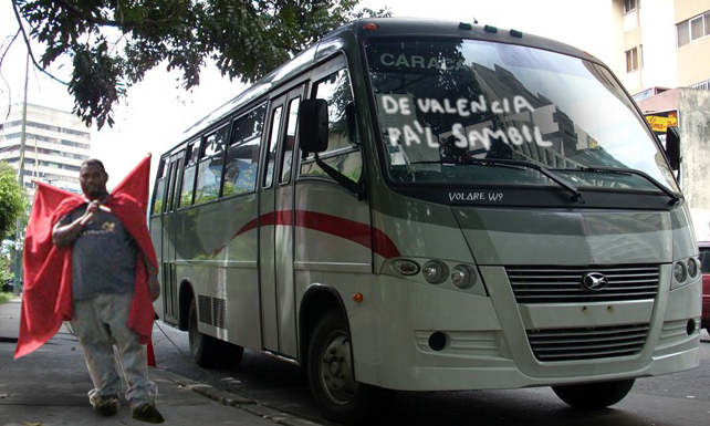 Marcha del 1ero de Mayo da trabajo a miles de autobuseros