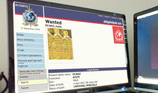 Interpol coloca al aceite en lista de los más buscados