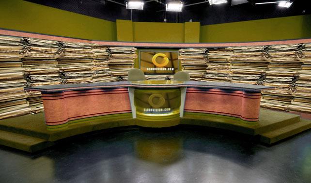 Nuevo set de Globovisión estará hecho con carpetas de procesos administrativos