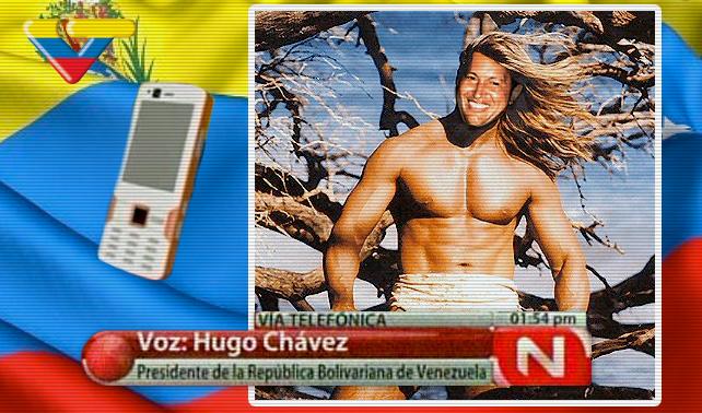 Desmienten rumores de salud de Chávez usando bella foto en su llamada telefónica