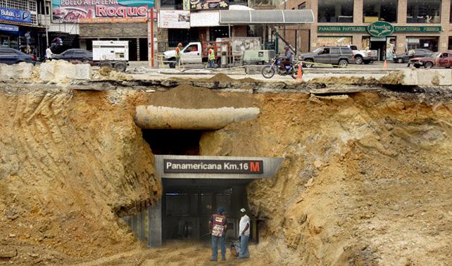 Descubren nueva estación del Metro dentro de hueco de la Panamericana