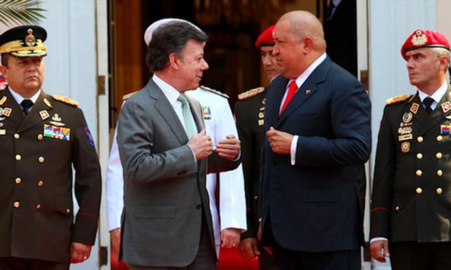 Chávez recibe con honores a su amigo mafioso, indecente y terrorista
