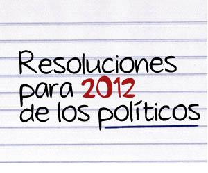 Resoluciones para 2012 de los políticos