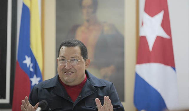 """""""Si Capriles gana dirigirá al país desde Washington"""" dice Chávez desde La Habana"""