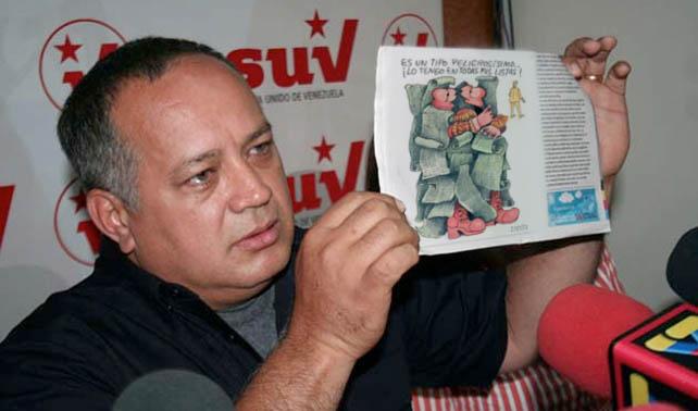 Diosdado dice que si entendiera las caricaturas de Zapata las denunciaría