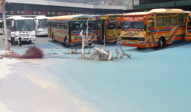 Gobierno traslada arena y agua al Terminal de La Bandera