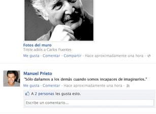 Joven googlea frases de Carlos Fuentes para poner en su Facebook