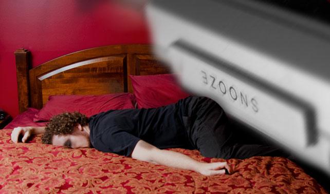 En venganza botón de Snooze presiona 50 veces a dueño holgazán