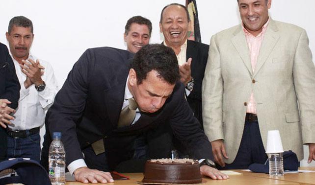 Cronograma del cumpleaños de Capriles