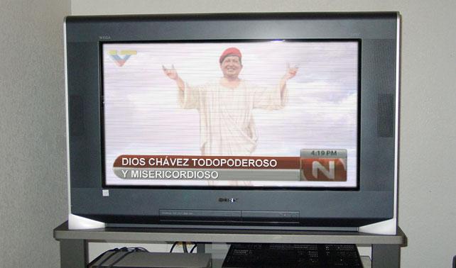 VTV niega ventajismo a favor de Dios Chávez Todopoderoso y Misericordioso