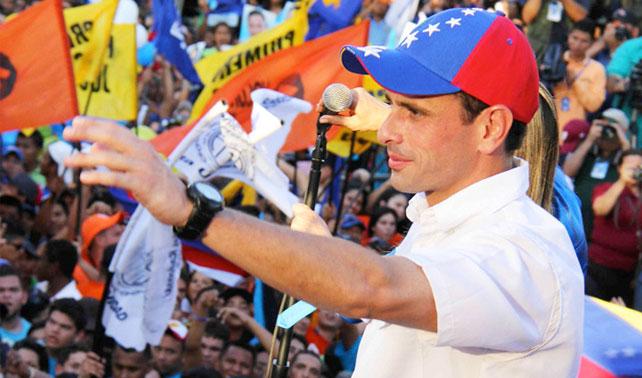 CNE ordena a Capriles no usar acento venezolano