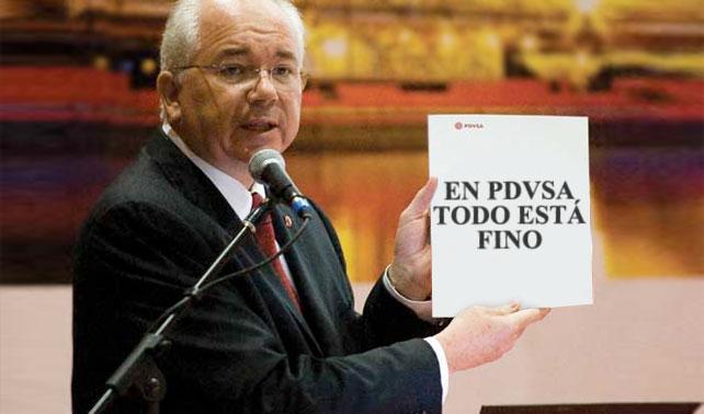 """Gobierno revela informe de una página que dice """"En PDVSA todo está fino"""""""