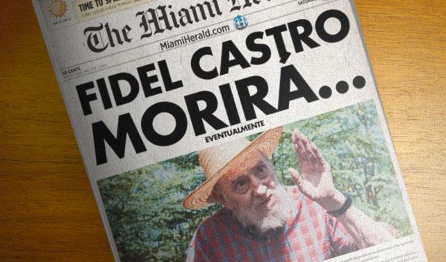 Prensa confirma que Fidel morirá eventualmente, como todos nosotros