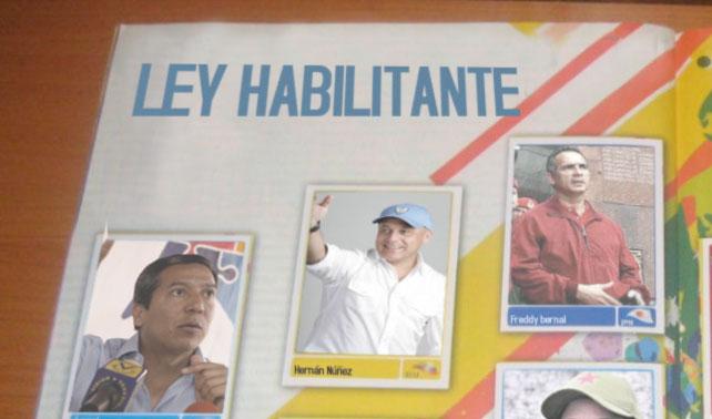 """Con adición del diputado Hernán Núñez, Cabello completa album """"Ley Habilitante"""""""