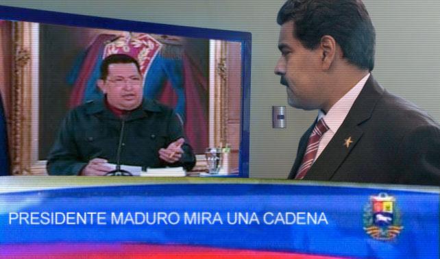 Maduro hace cadena nacional que lo muestra viendo una cadena de Chávez