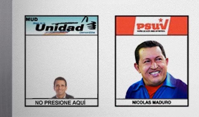"""CNE cambia por error el nombre de Capriles a """"No presione aquí"""""""