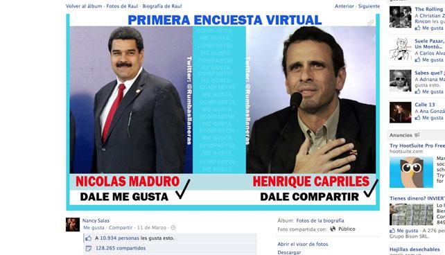 Capriles gana elección virtual de Facebook y gobierna territorios de Farmville